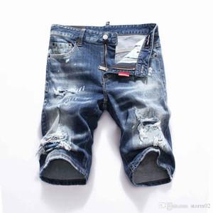 19ss Nuova famoso stilista Distressed mens jeans strappati Motociclista Jeans causali del denim del foro Pantaloni Streetwear Mens Jeans