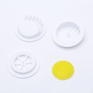 Fábrica máscara direta válvula respiratória one-way acessórios de exalação da máscara de poeira exhalationvalve única válvula! branco e cor preta
