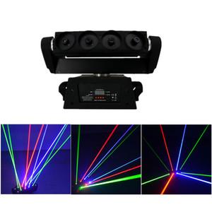 AUCD 8 Olhos RGB Moving Head Spider Laser Light Light DMX Master-escravo Iluminação para DJ Party Club Show DJ-108