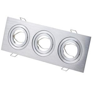 Tres cabezas de la parrilla de la luz del accesorio tazas downlight de techo cuadrada de punto GU10 / MR16 GU5.3 lámparas halógenas MR11 sostenedor CRESTECH LED