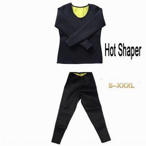 rSu3D Neoprene plastic waistcoat body-beautifying belly-closure long sleeve T-shirt sports sweat vest t-shirt vest slimming body-shaping clo
