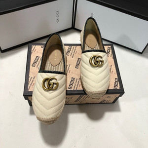 2020 Classic di paglia di modo scarpe da donna della serie treccia pescatore, Inizio autunno della stella della paglia dimostrazione plait scarpe casual Size 35-41