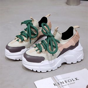 shoes woman 2018 winter autumn new platform sneakers tenis feminino casual chunky sneakers woman lace-up dad sneakers