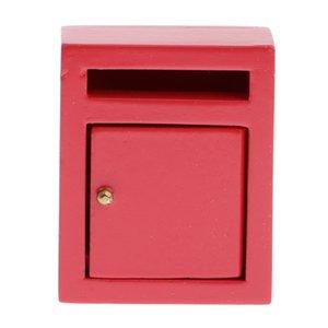 1/12 Dollhouse Miniature boîte aux lettres Vintage Postbox Décoration Jardin à l'échelle 1/12 Poupées Maison Accessoires