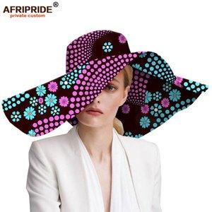Женские шляпы африканский принт цветочные женские шляпы Анкара ткань широкополая шляпа воск батик Базен Риш АФРИПРИД A1928009