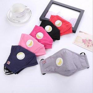 Anti Staub Gesicht Mund-Maske mit Atemventil, einzeln verpackt PM2.5 Respirator Staubdichtes Waschbar Wiederverwendbare Smog Baumwolle Masken 11 Farben