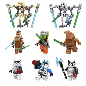032-039 Space War General Grievous Pong Krell Hera Syndulla Ithorian Jedi Master Stormtrooper Mini Action Figure Building Blocks Toy
