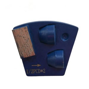 KD-P50 PCD Diamond Grinding Shoes with Two Pins Blank PCD Grinding Pads for Epoxy Glue Coating Removal 9 Pieces One Set