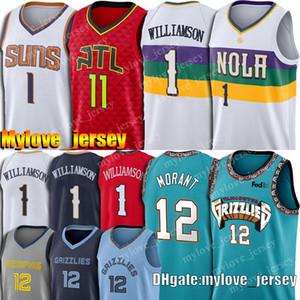 12 Ja Morant Sion Jersey Williamson Jersey Trae 11 Giovane Jersey Devin 1 Booker maglie da basket maglie Grizzliy Pelican