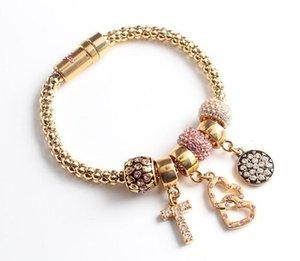 Оптовая Золото Шарм браслеты для женщин DIY Золотых бисер Good Luck браслет ювелирных изделий Pop Corn Chain