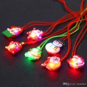 크리스마스 LED 어린이 목걸이 빛나는 할로윈 플래시 목걸이 빛나는 펜던트 아이들의 장난감 창조적 인 성격 작은 선물