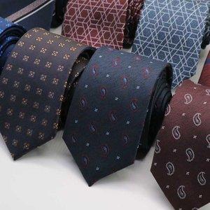 7CM Jacquard Ties For Men Floral Necktie paisley gravata corbatas Formal Mens Ties Foral Cravate Homme For men tie Wedding Party