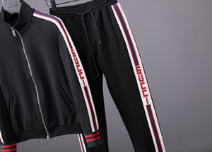 2019 new luxury designers letter printing men's Medusa running suit sportswear sportswear sports suit men's jacket jacket casual sweatshirt