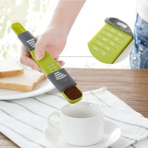 Ölçme Yeşil Ölçüm Kaşık Mutfak Pişirme Araçları Sıvı Toz Plastik Aracı HAA111 Pişirme Scoop Pasta Ölçme