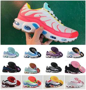 Mit Box Top Günstige Frauen der Männer Schuhe Regenbogen-Grün TN Ultra Sports Chaussures Requin Turnschuhe Luft Caushion Laufschuhe Größe 36-46