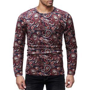 Yapraklı Erkek Tasarımcı tişörtleri Moda İnce Sonbahar Mürettebat Boyun Mens Tees Casual Erkek Giyim yazdır
