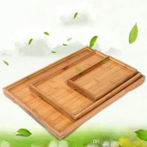 Dikdörtgen Doğal Bambu sunmaktadır Tepsi Çay Çatal Tepsileri Depolama Palet Meyve Tabağı Dekorasyon Gıda Ahşap Dikdörtgen 6 Boyut BH2304 CY