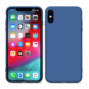 caso telefone silicone à prova de queda simples para iPhone 6s 78, mais tampa traseira macia iPhoneXSmax XR luxo