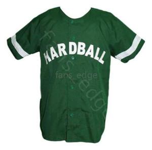 G-Baby Kekambas Hard Ball Movie Baseball Jersey Button Down Green Mens Stitched Jerseys Shirts Size S-XXXL Free Shipping 07