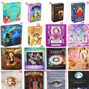 Oracle Cards Deck English Mysterious Fate Divination Tarot Cards Board Games Women Family Holiday Party Playing Cards Fun Card Games Eazrn