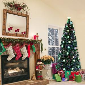 6FT Kleines Licht Fiber Optic-Weihnachtsbaum-230 Branchen PVC Artificial dünne Füße Weihnachtsbaum, mit Regal Festliche Dekoration Grün