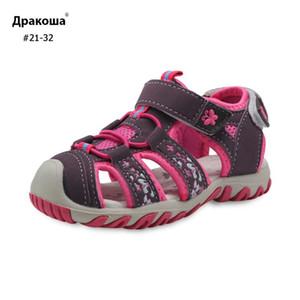 Apakowa Beach Girls Sandales Cutout été Enfants Enfants Chaussures bébé Sandales fermé Toe prévention Peu Chaussures enfants