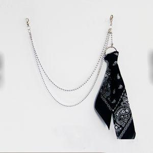 Colgante del pañuelo de la roca del pantalón del inconformista llavero Pantalón Jean Llavero Portachiavi HipHop Kpop Accesorios