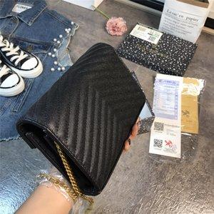 YSLcadena rombo clásico embrague de las mujeres de lujo de los bolsos de hombro de cuero del bolso del diseñador bolsos de marca de diseño de lujo de calidad