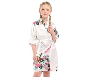 Popular children's peacock pajamas Nightgown comfortable bathrobe woman