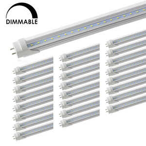 Dimmable T8 LED Tube Light, Led Shop Lights, Double-End Powered, Fluorescent Replacement Bulbs,for Warehouse Supermarket Workshop, G13 Base