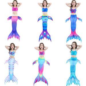 Girls Mermaid Swimsuit Swimwear Mermaid Clothing Swimsuits Bikinis Kids Swimwear Mermaid Tail 3pcs Set Kids Bathing Suits Children Swimming