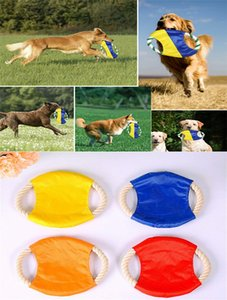2019 New Fashion Pet Interactive Chew Toys para perros Cuerda de algodón Flying Disc Toys Puppy Training Limpieza de dientes Accesorios dc789