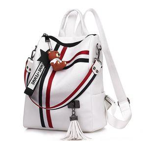 Kadın Çantaları Sırt Çantası Deri Sırt Çantası Kadın Schoolbag Bagpack Bayanlar Omuz Kadın Sırt Çantası Kese Dos Y190627