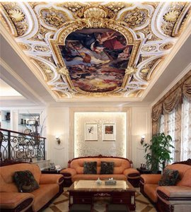 papel de parede para quarto пользовательские обои Европейский ангел золотая фреска потолок крыша papel de parede 3d