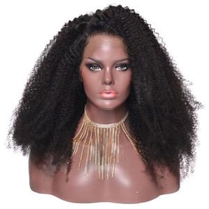 360 Dantel Ön Peruk Afro Derin Brezilyalı Tutkal az Tam Dantel Frontal Peruk Koparıp Kıvırcık Bebek Saç ile 180% Yoğunluk Mevcut