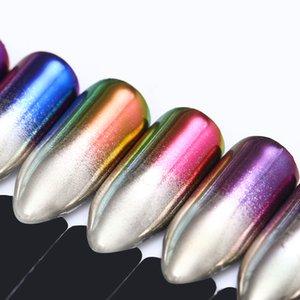 Beleza Saúde 2pcs prego Chameleon Espelho Glitter Powder Gradiente Metallic Efeito Pigment Decorações Nail Art Gel UV Polimento Chrome