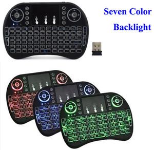 Rii I8 2.4GHz Wireless Mouse Gaming Tastiere Bianco retroilluminazione multicolore retroilluminato mouse Telecomando per Android TV Box MXQ PRO X96