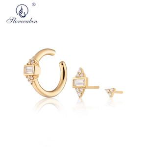 Slovecabin 925 Sterling Silver Audrey Ear Cuff Single Ear Cuff Shooting Star Simple Horseshoe Earrings Fashion Women Jewelry