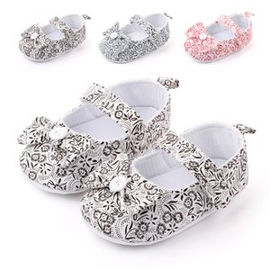 0-18 Months Cute Newborn Baby Girl Shoes Toddler Girl Princess Baby Shoes Flower Soft-Soled Crib