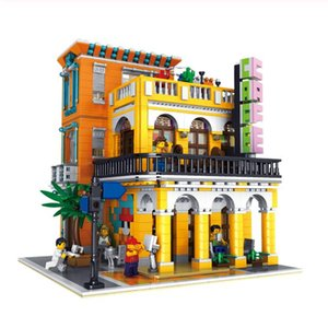 10002 MOC City Creator Cafe Havana Corner Street View Model Modular Building Kits Blocks Bricks The Brickstive Toys For Children