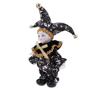Nero porcellana bambole da collezione 6inch Altezza Arlecchino Bambola in costume, regali creativi Valentin per Lui o fidanzata