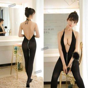 Женщины сексуальное тело чулок женское белье нижнее белье клубная одежда молния плотный комбинезон горячая