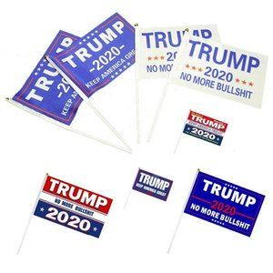 DHL shipping Hand Held Trump Flag Mini Election Stick Flag Trump President Election 2020 keep America great Fashion Home Decor Banner L343FA