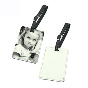 sublimation blank pu leather Luggage tag hot transfer printing custom diy Luggage tags consumables material