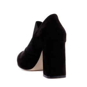 Moxee-Black Suede Women 'S High-Heeled Shoes
