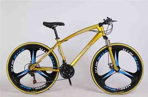 polece BTT 26 polegadas bicicleta de montanha dourado com 21 velocidades de freio de disco de dupla estrutura de aço de alto carbono bicicleta de suspensão anti-derrapagem