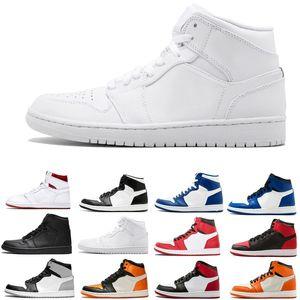1 Chicago High OG RED WHITE hombres zapatos de baloncesto 1s I zapatillas deportivas de alta calidad 5.5-13 tamaño al por mayor 36-47