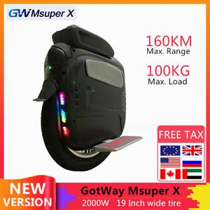 """Originale Gotway Msuper X Auto Bilanciamento del motorino elettrico 2000W Motore 1600WH 160 km Gamma 19"""" Pneumatico Una ruota di skateboard Hoverboard"""