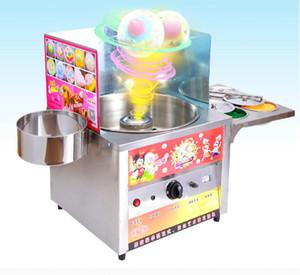 Ticari Fantezi Gaz Pamuk Şeker Makinası Paslanmaz Çelik DIY Snack Tatlı Şeker Şeker Floss Çiçek Fantezi Zefir Makinesi