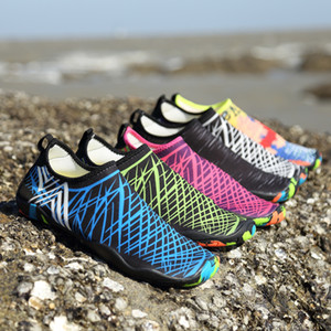 Boyutu 35-47 Erkek Kadın Plaj Su Ayakkabı Schuhe Açık Yoga Yüzme Çabuk Kuruyan Aqua Ayakkabı Yumuşak Sahil Sığ Ayakkabı Zapatos